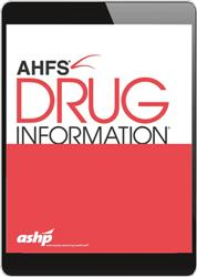 Cover AHFS Drug Information (Online-Datenbank über DrugBase)