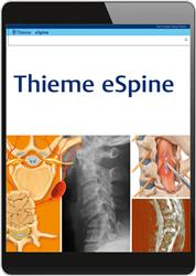 Cover Thieme eSpine (Online-Datenbank)
