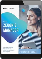 Cover Haufe Zeugnis Manager Professional (Online-Datenbank)