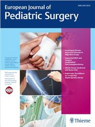 Cover European Journal of Pediatric Surgery