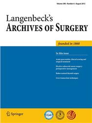 Cover Langenbecks Archives of Surgery