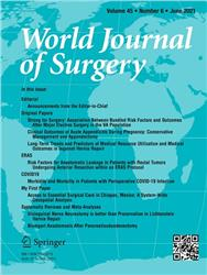 Cover World Journal of Surgery