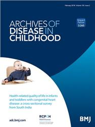 Cover Archives of Disease in Childhood
